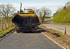 Tarmacadam footpath laying Stock Photo