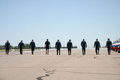 Tarmack walkers. Air Show Photo Stock Photography