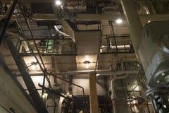 Tarmar av ångamaskinrum i Liberty Ship arkivbilder