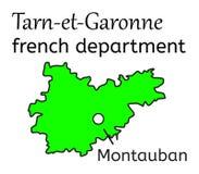 Tarn-et-Garonne french department map Stock Photo