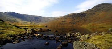 Tarn and the Fells Royalty Free Stock Image