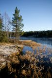 Tarn freezing over Royalty Free Stock Images