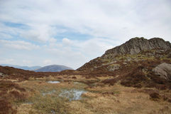 Tarn on Haystacks. A small Tarn or pool on Haystacks, a mountain in the Lake District, England Stock Photos