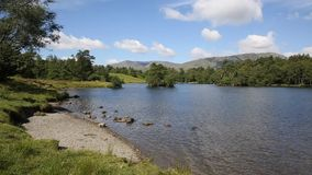 Tarn Hows near Hawkshead Lake District National Park England uk PAN Stock Image