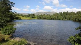 Tarn Hows near Hawkshead Lake District National Park England uk PAN Royalty Free Stock Photography