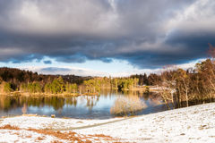 Tarn Hows in Winter Stock Photography