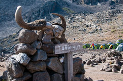 Tarn Hut Kilimanjaro Stock Photos