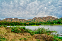 Tarn landscape and mountain Royalty Free Stock Photos