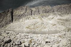 Tarn in mountains Royalty Free Stock Images
