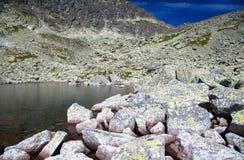 Tarn in mountains. Tarn - Wahlenbergovo pleso - in High Tatras mountains, Slovakia Stock Image