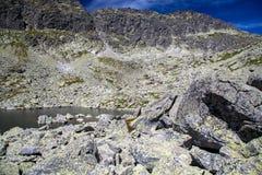 Tarn in mountains. Tarn - Wahlenbergovo pleso - in High Tatras mountains, Slovakia Stock Photos