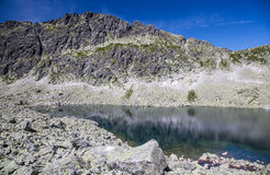 Tarn in mountains. Tarn - Wahlenbergovo pleso - in High Tatras mountains, Slovakia Royalty Free Stock Images