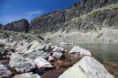 Tarn in mountains. Tarn - Wahlenbergovo pleso - in High Tatras mountains, Slovakia Stock Photography