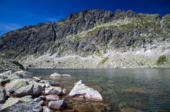 Tarn in mountains. Tarn - Wahlenbergovo pleso - in High Tatras mountains, Slovakia Stock Images