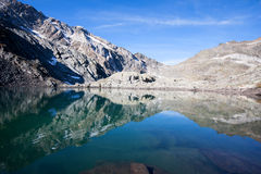 Tarn over the dolomites Royalty Free Stock Images