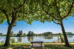 The Tarn river passing by Moissac, France Royalty Free Stock Photography