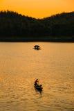 tarn solnedgång Arkivbild