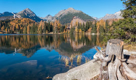 Tarn Strbske pleso in High Tatras Royalty Free Stock Images