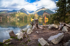 Tarn Strbske pleso, Slovakia Royalty Free Stock Photo