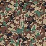 Tarnen Sie Muster Grüne Militäruniform Camo-Beschaffenheit, nahtloser Vektorhintergrund stock abbildung