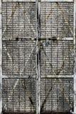 Tarnished дверь с защитной сеткой металла стоковые изображения rf