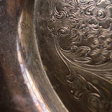 Tarnished antique silver background closeup Royalty Free Stock Photos