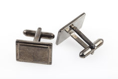 Tarnished silver cufflinks Royalty Free Stock Photography