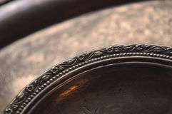 Tarnished silver dishes Stock Images
