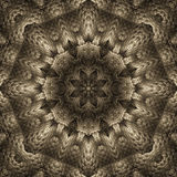 Tarnished silver star mandala Stock Photos