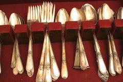 Tarnished silverware. Photo of a tarnished silverware Stock Image