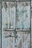 Tarnished Wood Door Stock Photo