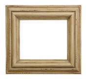 Tarnished Wooden Picture Frame. Old country style photo frame Stock Photo
