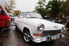 Tarnopol,乌克兰- 2016年10月09日:经典减速火箭的汽车白色GA 免版税库存图片