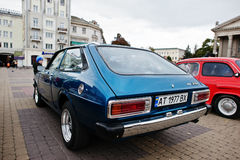 Tarnopol Ukraina - Oktober 09, 2016: Klassisk retro bil Corolla arkivbilder