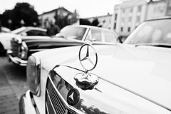 Tarnopol, Ukraine - October 09, 2016: Logo of classic retro car Royalty Free Stock Image