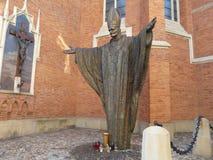 TARNOW-monument van John Paul II, Polen stock fotografie