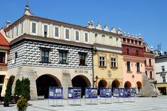 Tarnow, Polonia: Cuadrado de Rynek Imagen de archivo libre de regalías