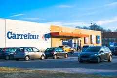 Tarnowskie GÃ ³ ry, Polska Carrefour supermarket - 28/02/2019 - zdjęcia royalty free