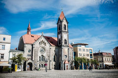 Tarnowskie Gory Town Square Stock Images