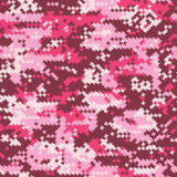 Tarnung rosa houndstooth stock abbildung