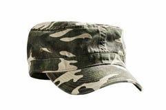 Tarnungmilitär bedeckt mit einer Kappe Lizenzfreie Stockfotos