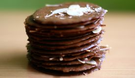 Taro αμυγδάλων Choco τριζάτο Στοκ φωτογραφίες με δικαίωμα ελεύθερης χρήσης