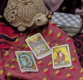Taro κάρτες στοκ εικόνα με δικαίωμα ελεύθερης χρήσης