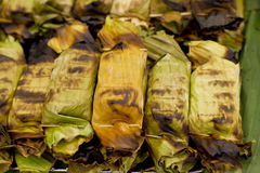 taro ρυζιού φύλλων μπανανών κολλώδης φρυγανιά Στοκ εικόνες με δικαίωμα ελεύθερης χρήσης