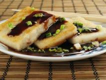 Taro Cakes with Sauce stock photography