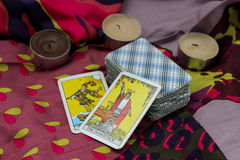 Taro cards Royalty Free Stock Photography