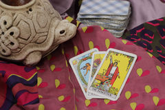 Taro cards Royalty Free Stock Images