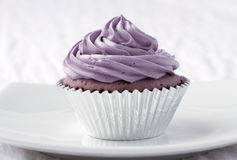Taro cupcake Royalty Free Stock Photos