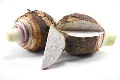 Taro d'isolement Sur un fond blanc Taro frais Photographie stock libre de droits