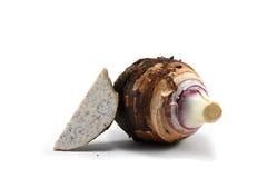 Taro fresco isolado em uma matéria prima branca do fundo do alimento Foto de Stock Royalty Free